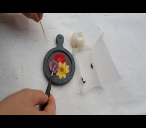꽃담은 한지거울 만들기
