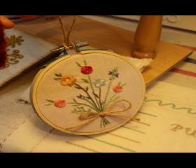 [현장체험] 꽃자수 수틀액자 만들기
